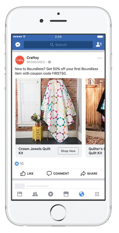 quảng cáo facebook khéo léo