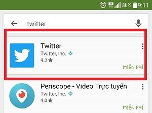 Hướng dẫn tải và cài đặt Twitter trên điện thoại