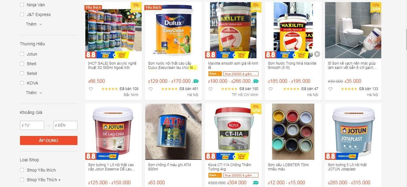 kinh doanh online ngành sơn nước